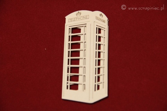 Chipboard phone booth
