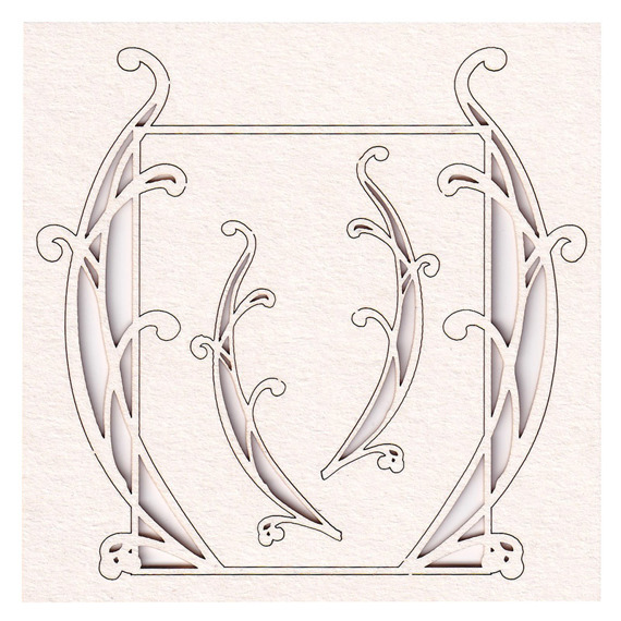 Chipboard rectangle frame small - Gentle Sunlight