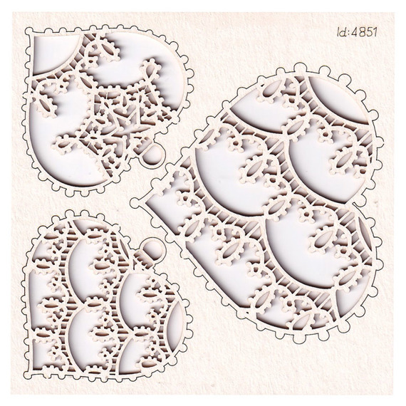 Chipboard - small Hearts - Tatting Christmas