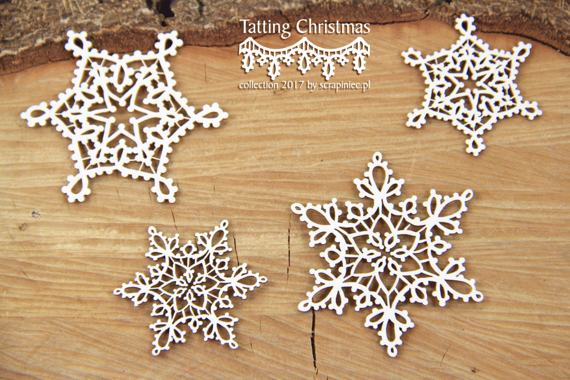 Chipboard - small stars - Tatting christmas