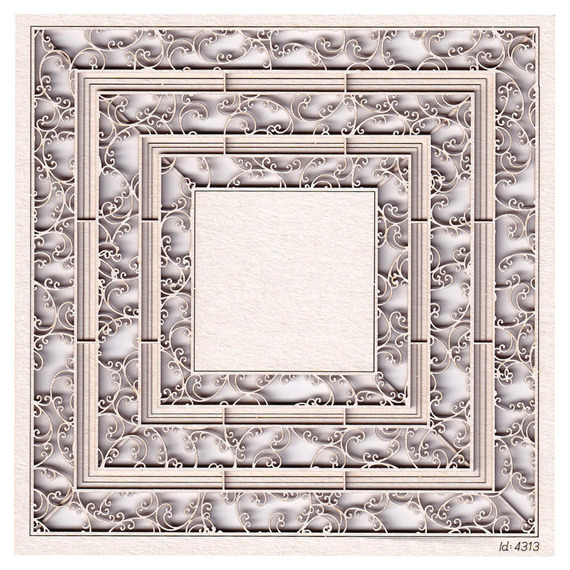 Chipboard square frames - Monograce - 2 layers