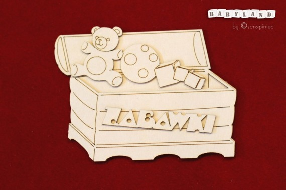 Chipboard toy chest - Babyland