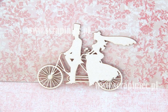 Chipboard - wedding tandem, 7cm
