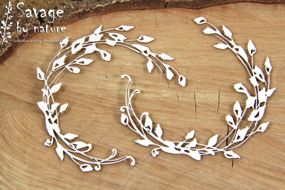 Chipboard wreath - Savage by Nature