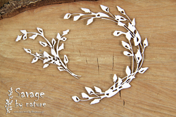 Chipboard wreath small- Savage by Nature