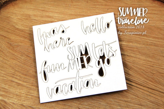 Chipboards lettering - I was here - Summer travelove
