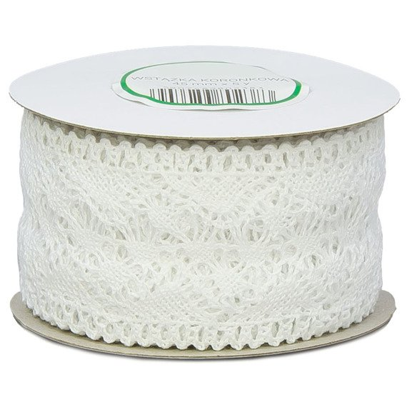 Cotton lace white 45mm x 4,55m