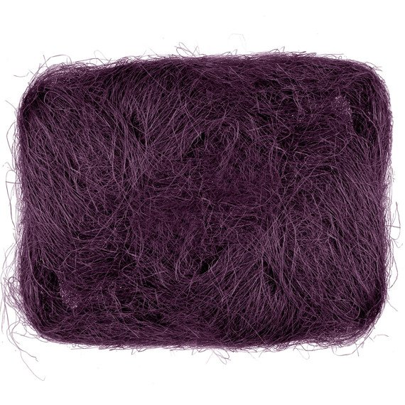 Decoration sisal fiber - aubergine