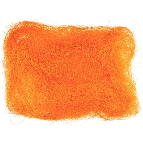 Decoration sisal fiber - dark orange
