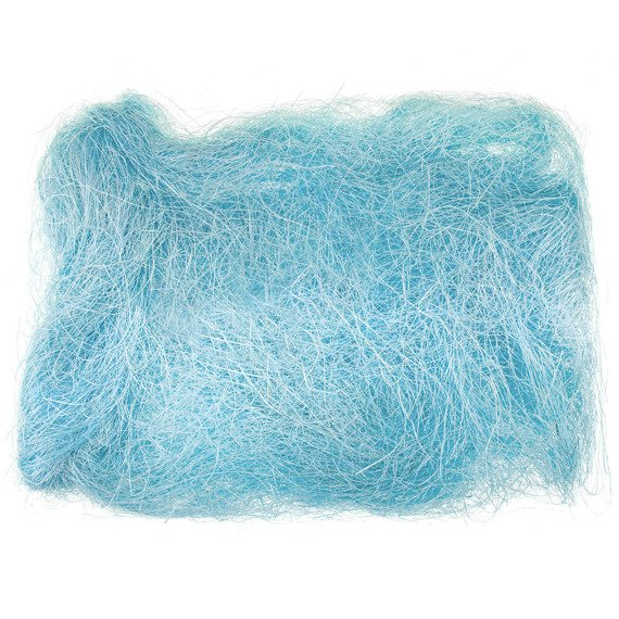 Decoration sisal fiber - light blue