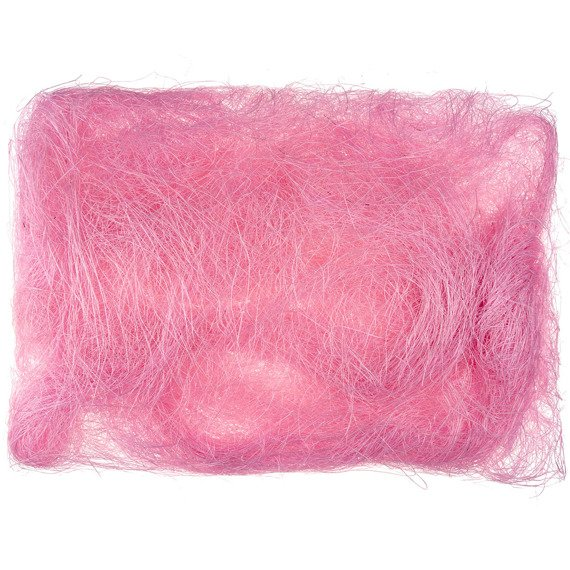 Decoration sisal fiber - light pink