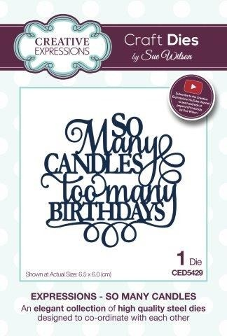 Die - Creative Expressions - So Many Candles