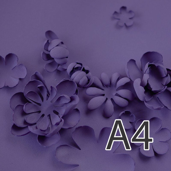Foamiran – flower making foam for handmade flowers - A4 - 121 dark purple