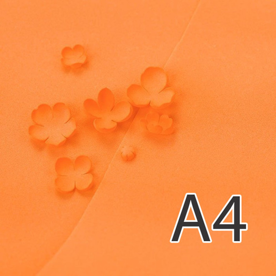 Foamiran – flower making foam for handmade flowers - A4 - 125 orange