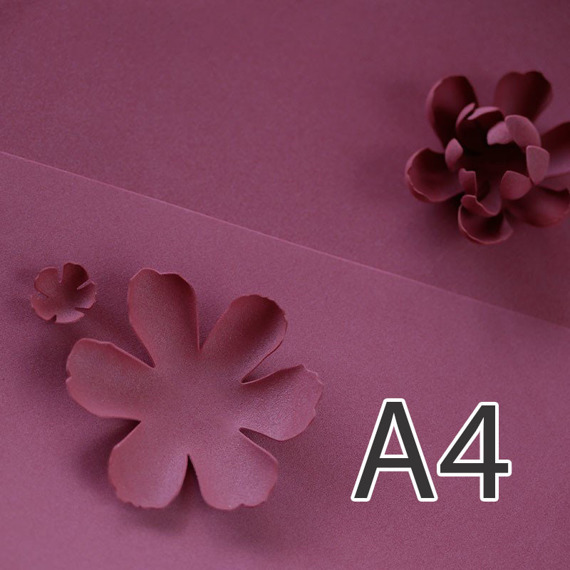 Foamiran – flower making foam for handmade flowers - A4 - 136 cherry