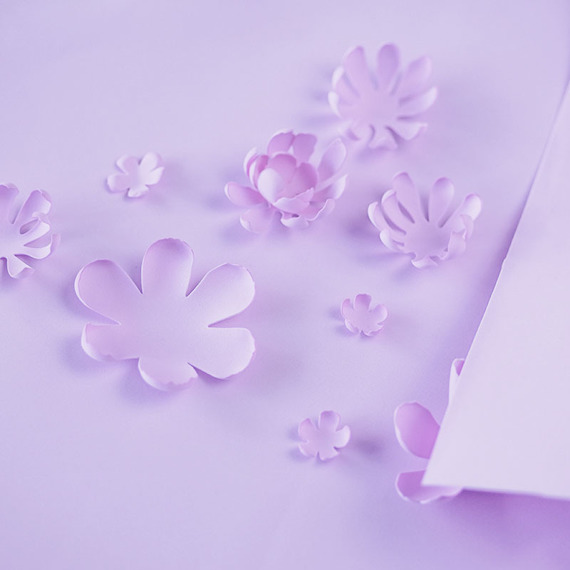 Foamiran – flower making foam for handmade flowers - A4 - 154 pastel purple