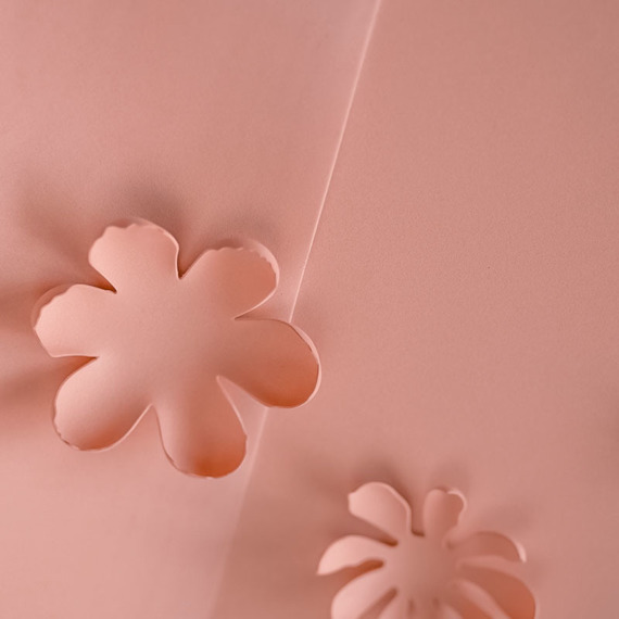 Foamiran – flower making foam for handmade flowers - A4 - dark salmon