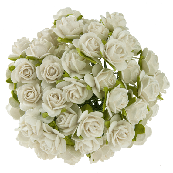 IVORY MULBERRY PAPER OPEN ROSES