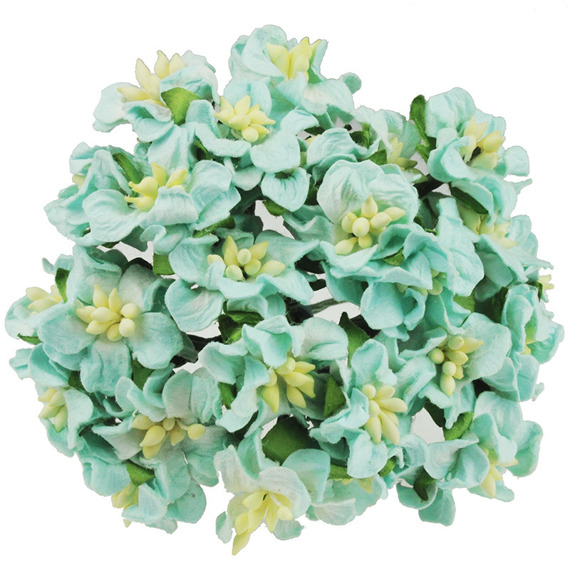 LIGHT AQUA MINI GARDENIAS