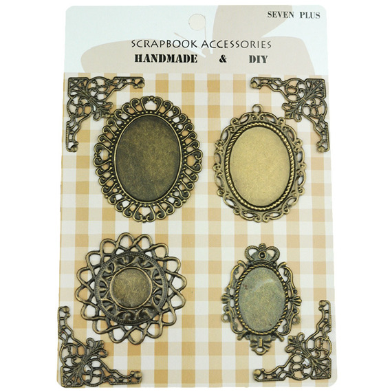 MIXED VINTAGE STYLE METAL EMBELLISHMENTS