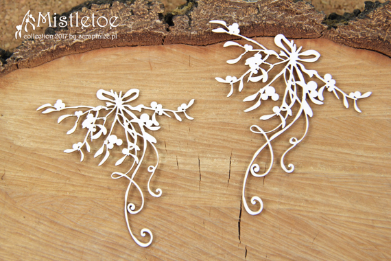 Chipboard - Mistletoe decor - Mistletoe