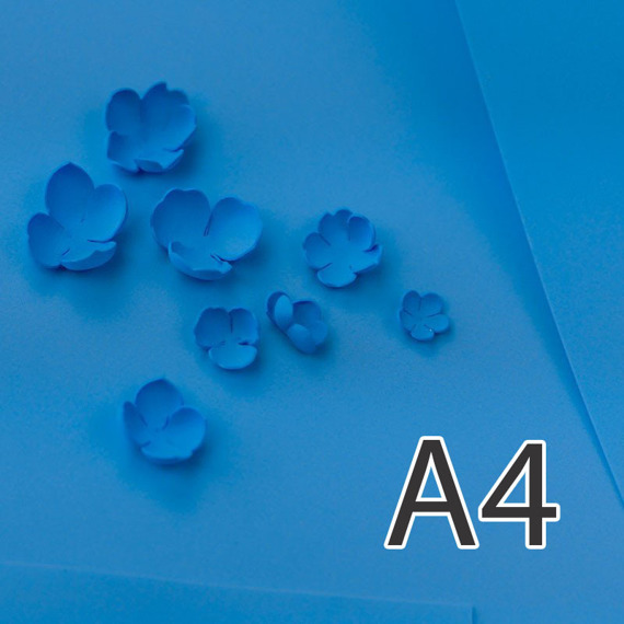Foamiran – flower making foam for handmade flowers - A4 - 167 blue